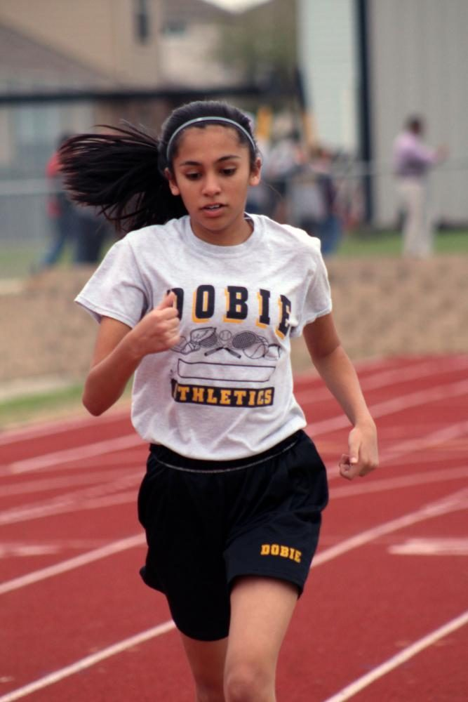 Dobie 8th Grade Girls Track: Record breaking season