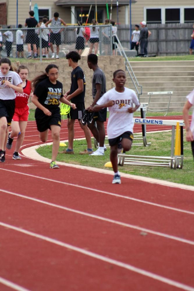 Dobie track and field's Caleb Deal