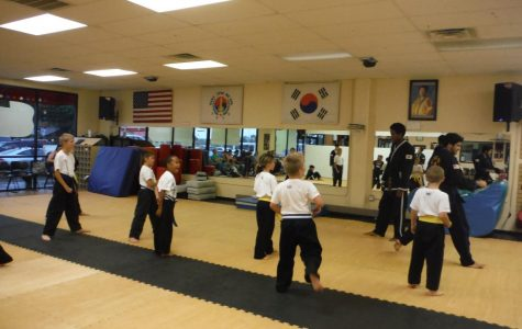 Mr. Paul and Mr. Trae teaching the color belts