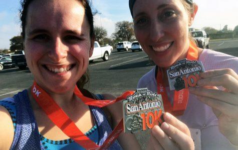 Dobie teachers run Rock 'n Roll Marathon