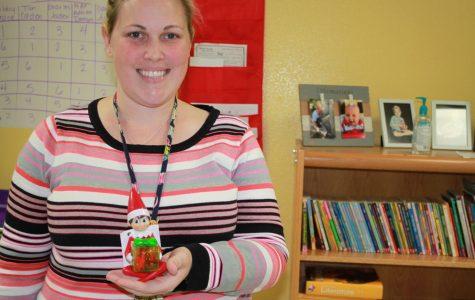 Dobie teachers get in on elf-on-the-shelf tradition