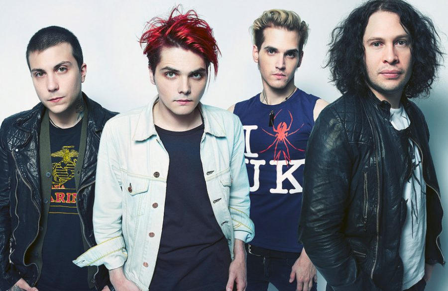 (Left to right) Frank Iero, Gerard Way, Mikey Way, Ray Toro