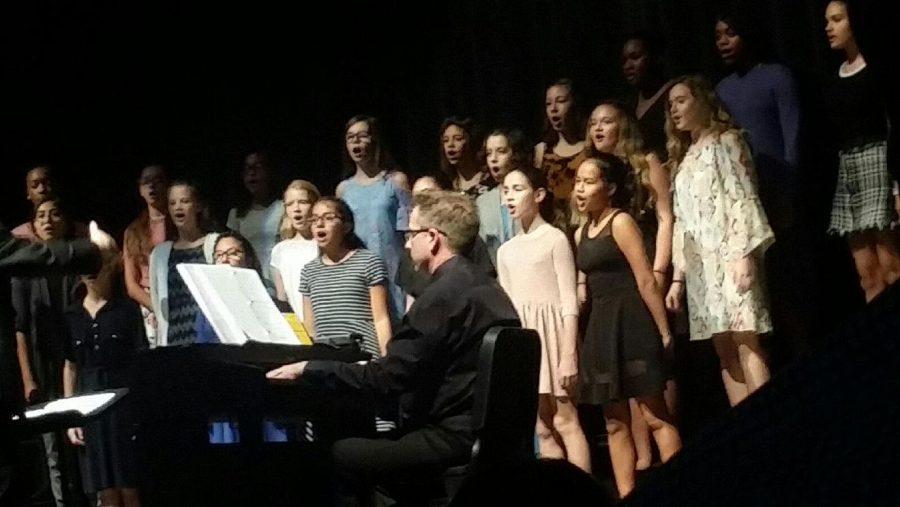 Dobie seventh grade girls choir was singing their music