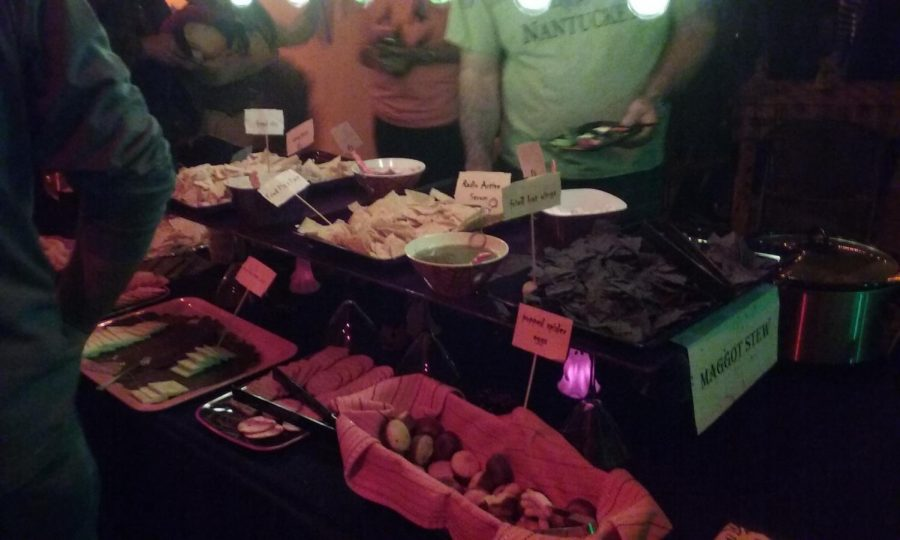 Food is a must at a Halloween party.