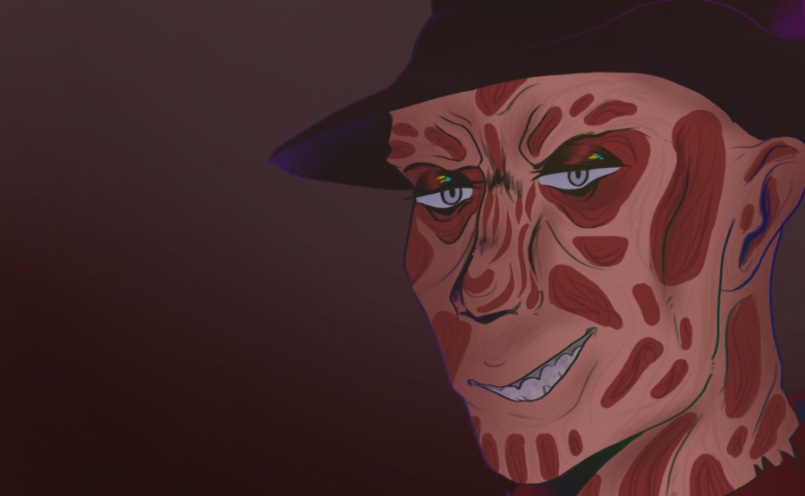 Drawing of Freddy Krueger