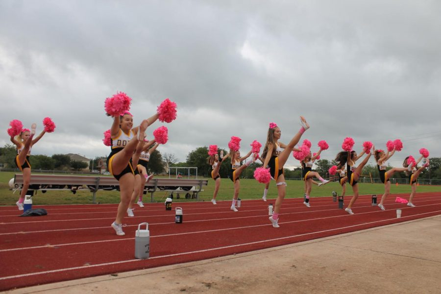 Cheer+team+goes+pink