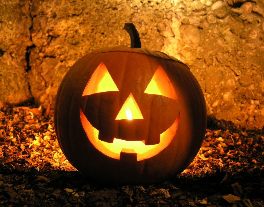 Jack-o-lanterns are carved every Halloween to light the way.