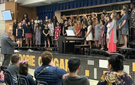 Hundreds of Dobie students enjoy fine arts class