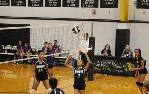 Seventh grade volleyball: halfway through a winning season