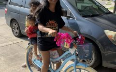 I got a new bike with a basket!!