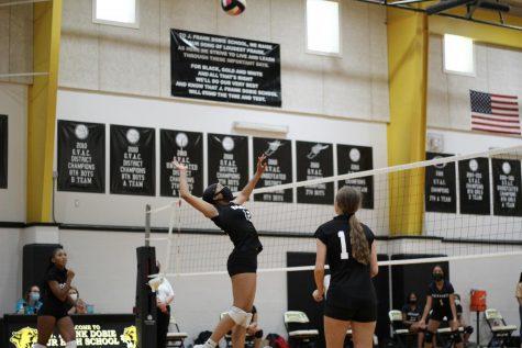 Dobie 8th grade girls won against Metzger on October 8.