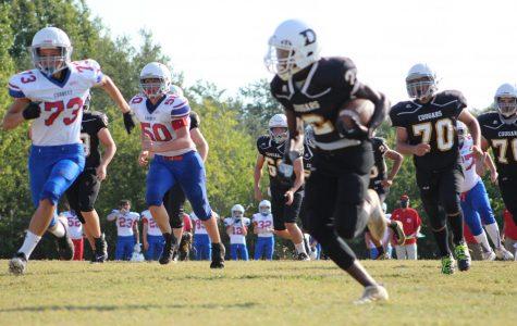 Dobie 8th grade A-football team defeats Corbett Mustangs