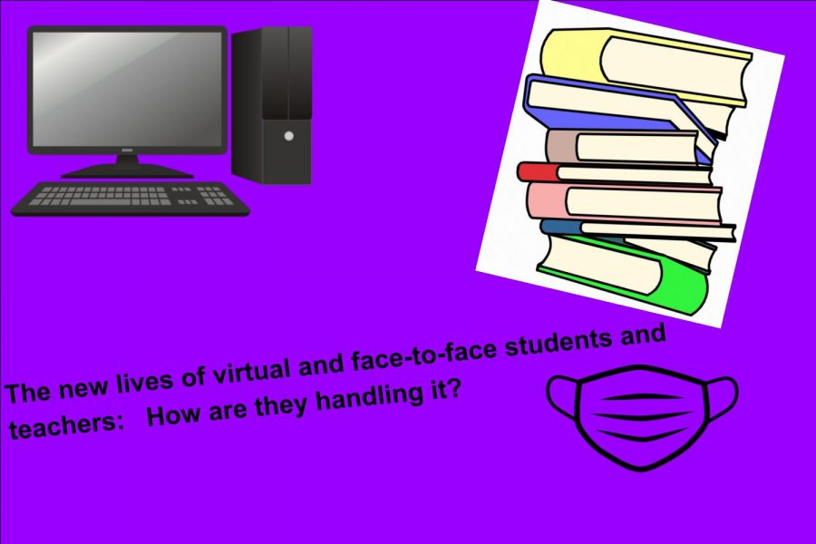 The new lives of virtual and face-to-face students and teachers:   How are they handling it?