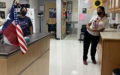 Dobie School Nurses Ms Mudge and Ms Garcia lead efforts to help keep students and staff safe and healthy.