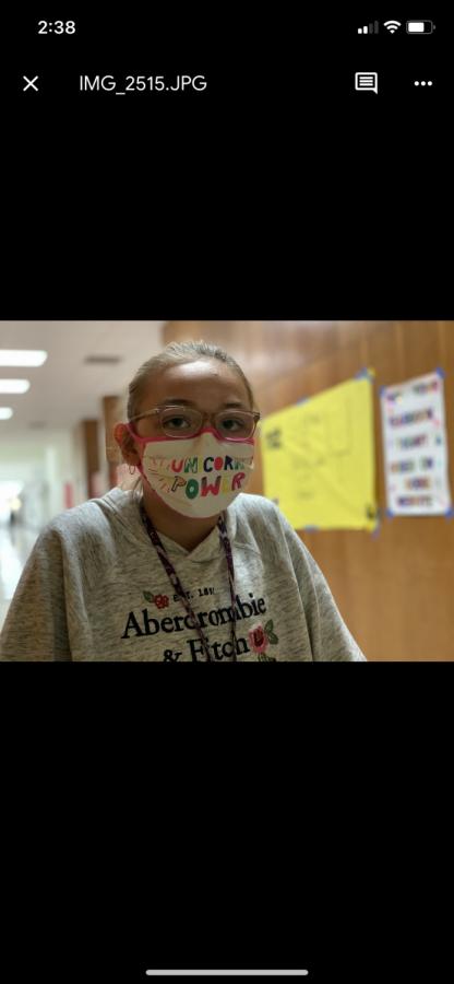 Dobie students make masks fashionable.